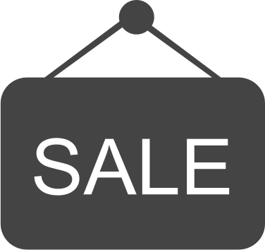 A sale sign coloured grey